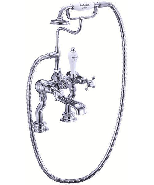 Burlington Claremont Regent Bath Shower Mixer Tap Deck Mounted