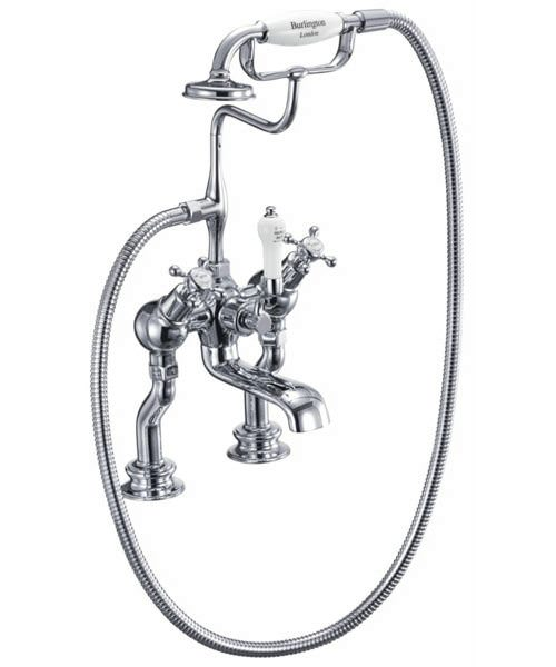 Claremont Regent Angled Bath Shower Mixer Tap Deck Mounted