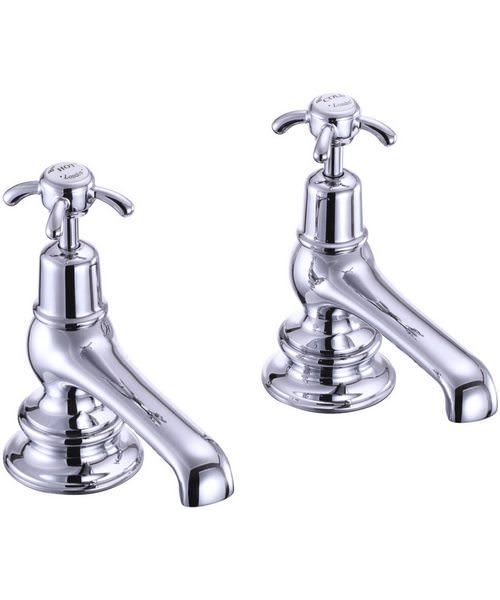 Burlington Anglesey Regent Chrome Plated Bath Taps