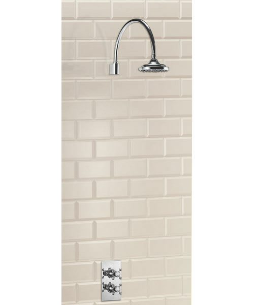 Trent Concealed Thermostatic Shower Valve With Curved Arm And Rose