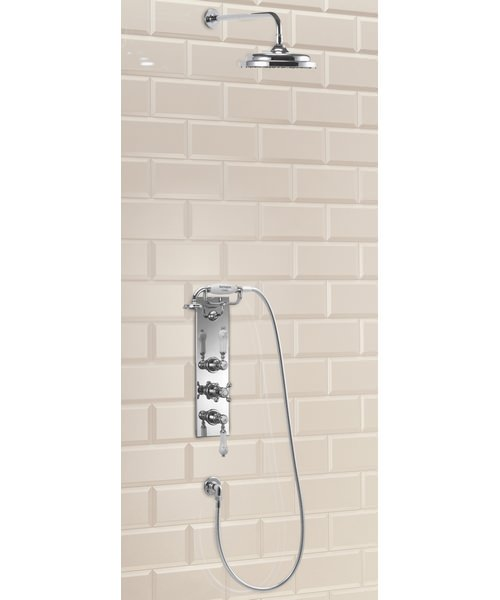 Clyde Concealed Thermostatic Valve With Straight Arm And Rose