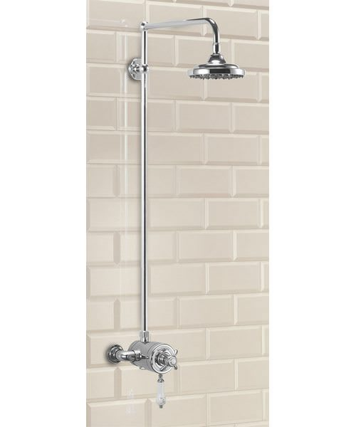 Wye Exposed Thermostatic Shower Valve With Staright Arm And Rose
