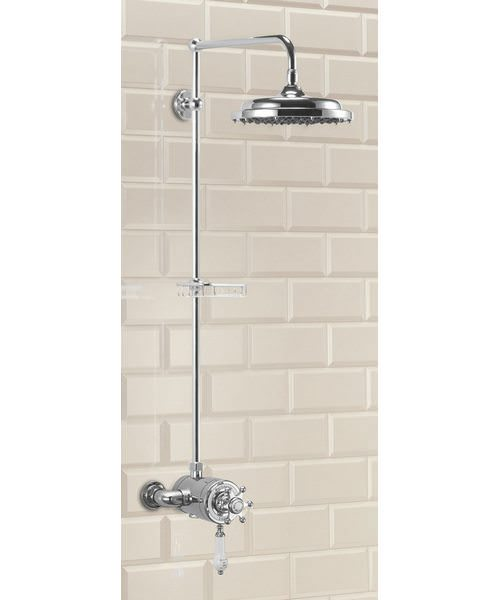 Wye Exposed Theromostatic Shower Valve With Riser And Straight Arm