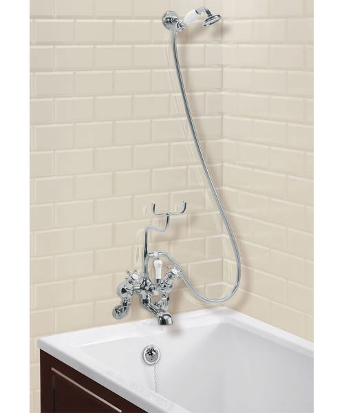Wall Mounted Angled Bath Shower Mixer With Shower Hook