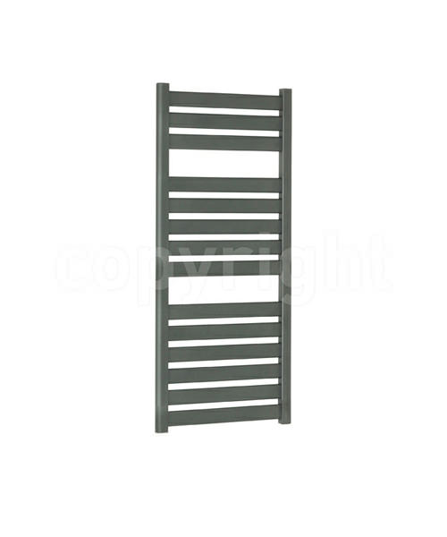 Bauhaus Edge 500x1150mm Straight Anthracite Flat Panel Towel Rail