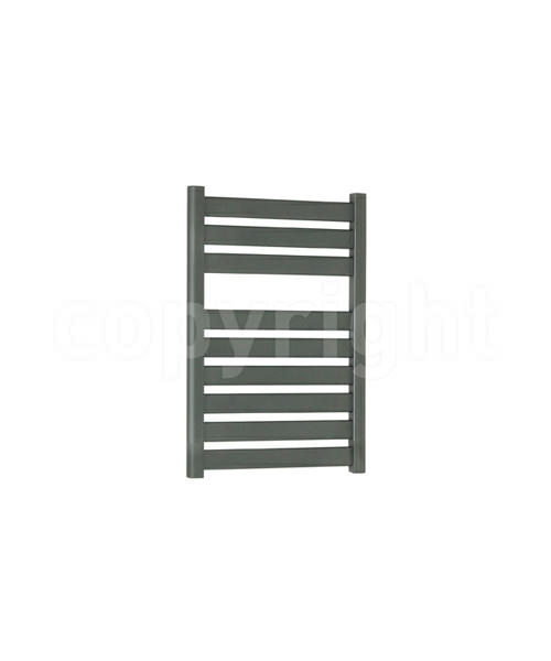 Bauhaus Edge 500 x 720mm Straight Anthracite Flat Panel Towel Rail