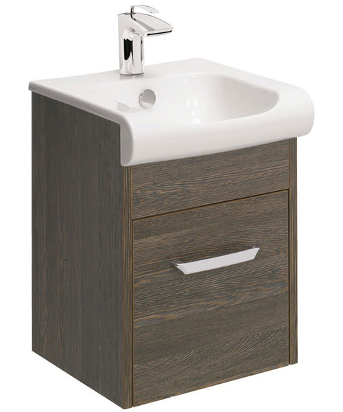 Additional image of Bauhaus Essence 400mm Single Drawer Unit And Basin