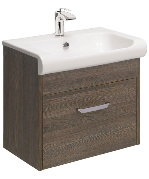 Additional image of Bauhaus Essence 600mm Single Drawer Unit And Basin