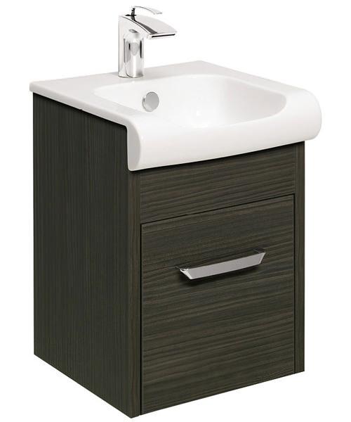 Bauhaus Essence Anthracite 400mm Single Drawer Unit And Basin