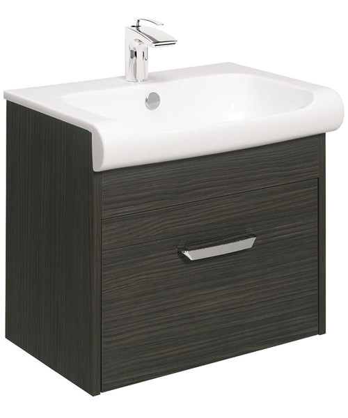 Bauhaus Essence Anthracite 600mm Single Drawer Unit And Basin