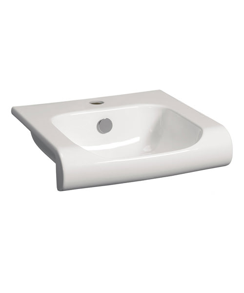 Bauhaus Essence 400mm Semi Inset Basin With Overflow