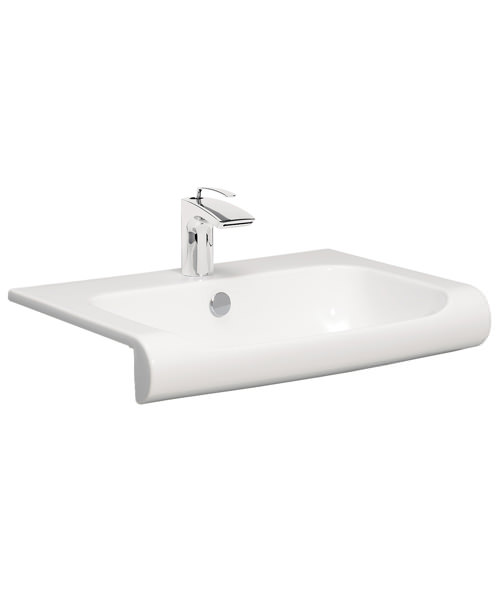 Bauhaus Essence 600mm Semi Inset Basin With Overflow