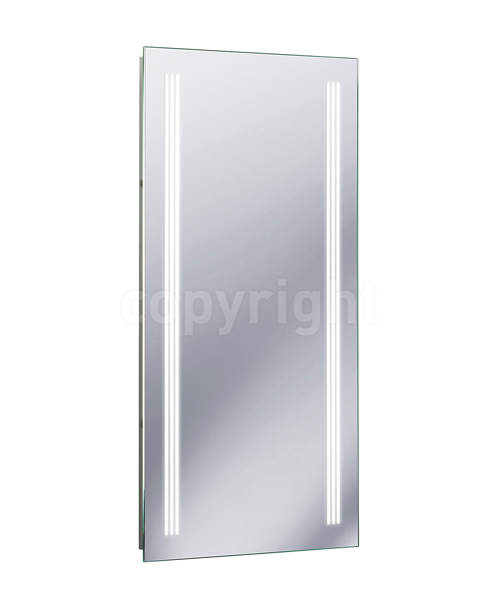 Bauhaus Solo Back Lit 425 x 800mm Mirror Portrait