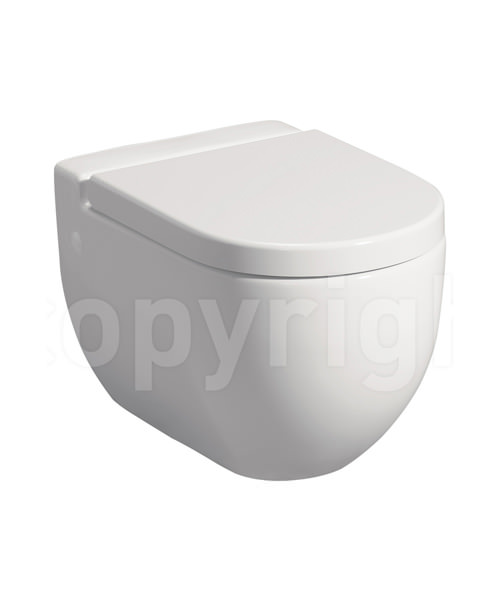 Bauhaus Stream II 510mm Wall Hung WC Pan And Soft Close Seat