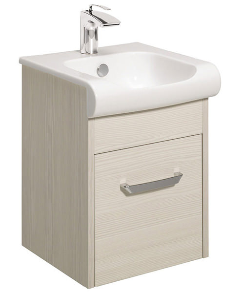 Bauhaus Essence Glacier 400mm Single Drawer Unit And Basin