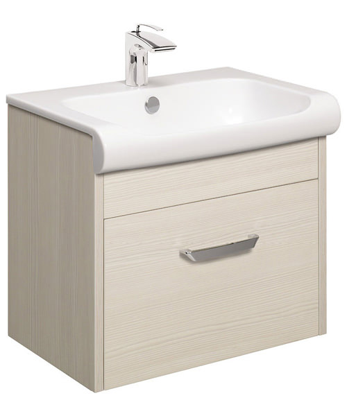 Bauhaus Essence Glacier 600mm Single Drawer Unit And Basin