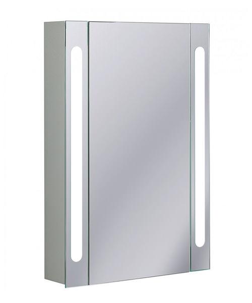 Bauhaus Aluminium 550 x 800mm Single Door Mirrored Cabinet