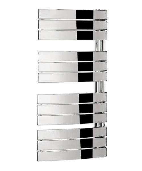 Bauhaus Essence 550 x 1080mm Chrome Curved Flat Panel Towel Rail