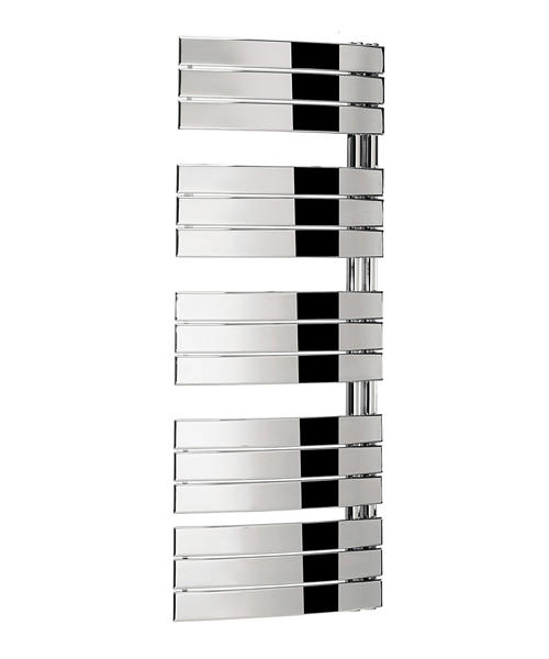 Bauhaus Essence 550 x 1380mm Chrome Curved Flat Panel Towel Rail