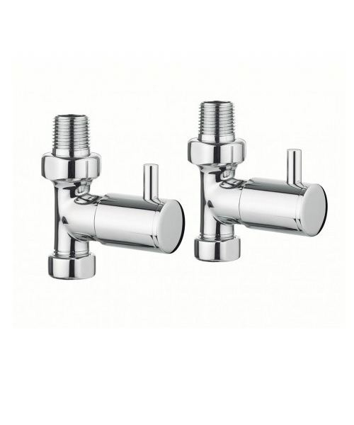 Bauhaus Design Straight Radiator Valve Pair