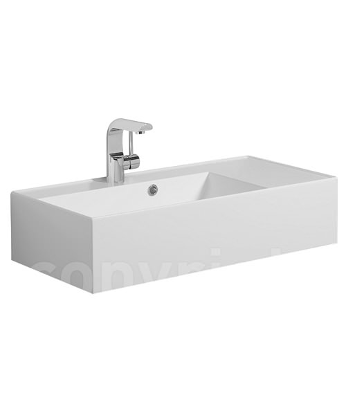 Bauhaus Elite 700mm Square Vanity Basin With Overflow