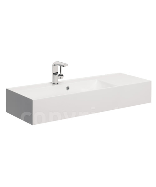 Bauhaus Elite 1000mm Square Vanity Basin With Overflow