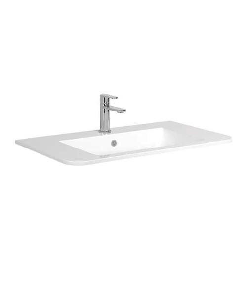 Bauhaus Celeste 800mm Single Taphole Basin With Overflow