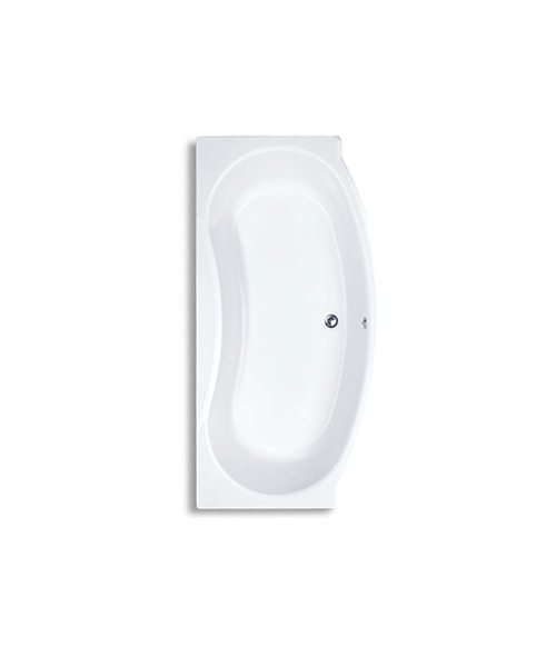 Trojan Lucina Bow Fronted White Acrylic Bath 1800 x 900mm