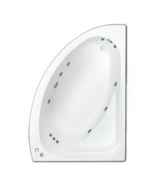 Trojan Orlando Right Handed Whirlpool Corner Bath 1495 x 1020mm