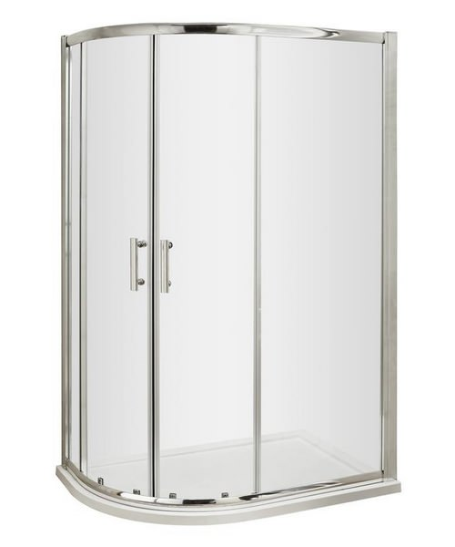 Beo Framed 1200 x 900mm Offset Quadrant Shower Enclosure
