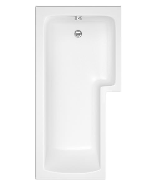 Beo Square 1700 x 850mm Right Hand Acrylic Shower Bath