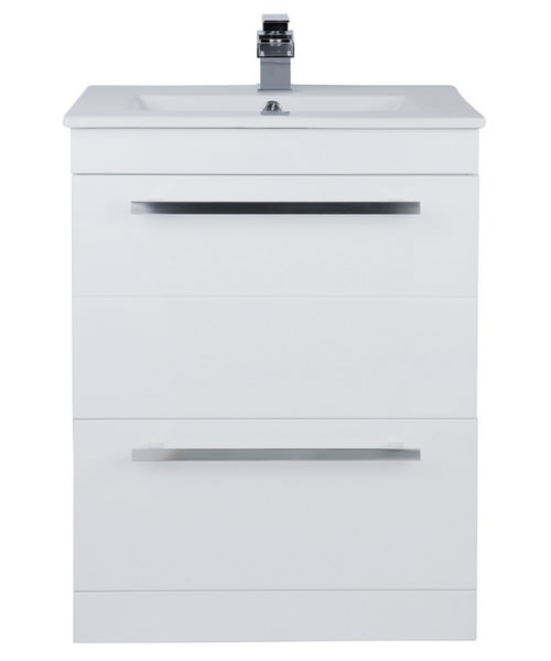 Beo Warner 600mm Floor Standing 2 Drawer Vanity Unit And Basin