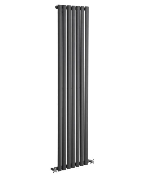 Reina Neva Anthracite 413 x 1500mm Single Panel Vertical Radiator