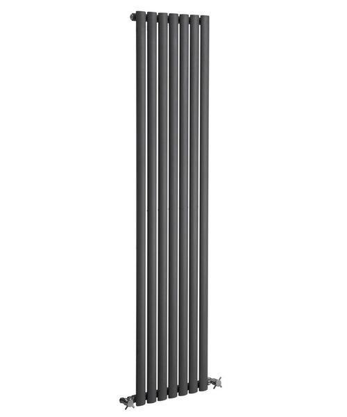 Reina Neva Anthracite 413 x 1800mm Single Panel Vertical Radiator
