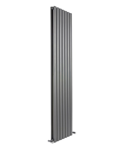 Reina Neva Anthracite 413 x 1800mm Double Panel Vertical Radiator