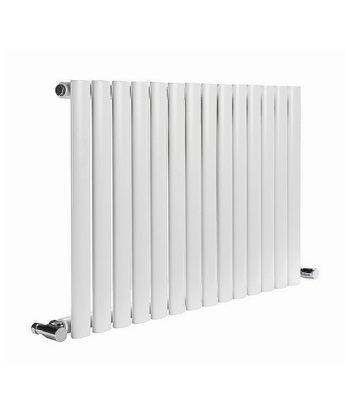 Reina Neva White 413 x 550mm Single Panel Horizontal Designer Radiator