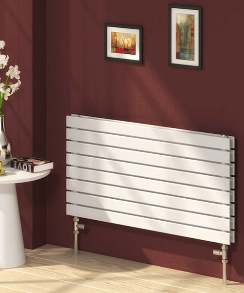 Reina Rione 400 x 550mm Horizontal White Double Designer Radiator