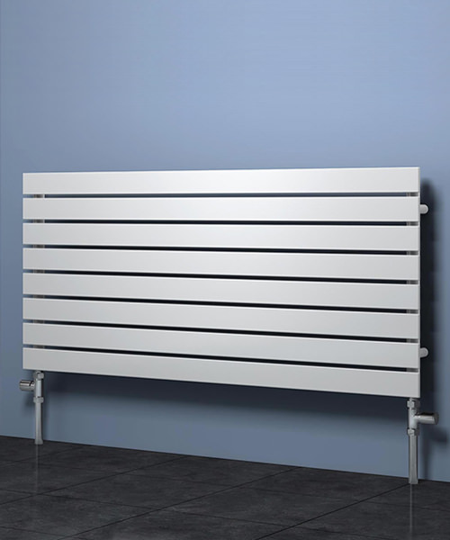 Reina Rione 600 x 550mm Horizontal White Single Designer Radiator