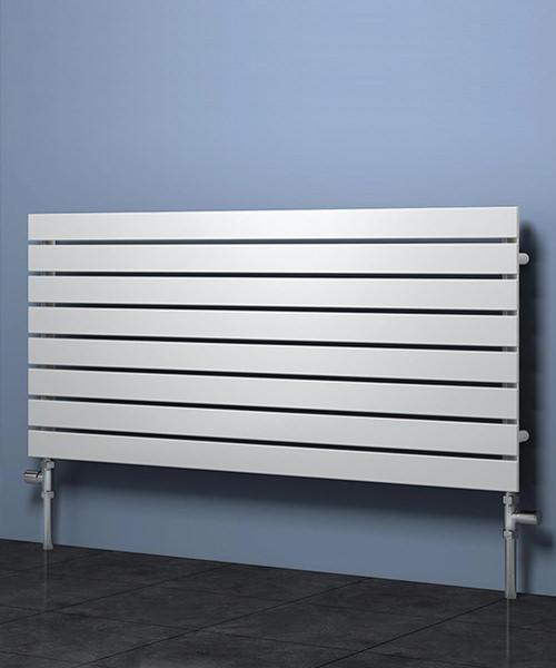 Reina Rione Horizontal Single Designer Radiator 1200 x 550mm White