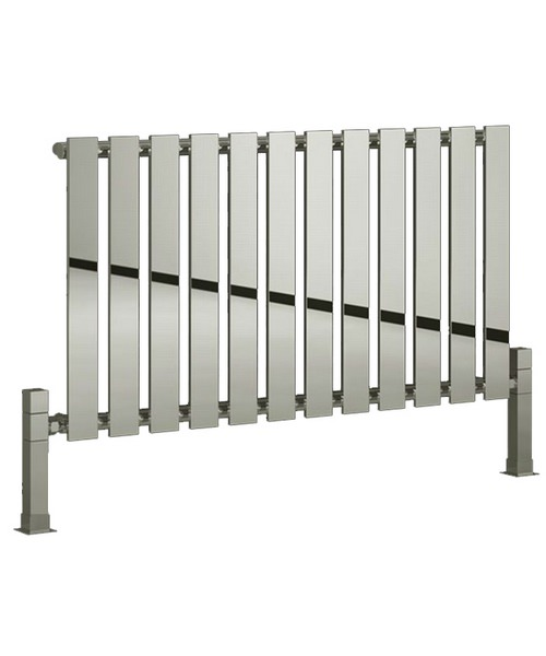 Reina Pienza Chrome 995 x 550mm Designer Horizontal Radiator