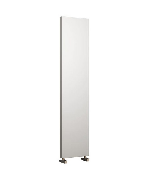Reina Nero White 300 x 1800mm Designer Vertical Radiator