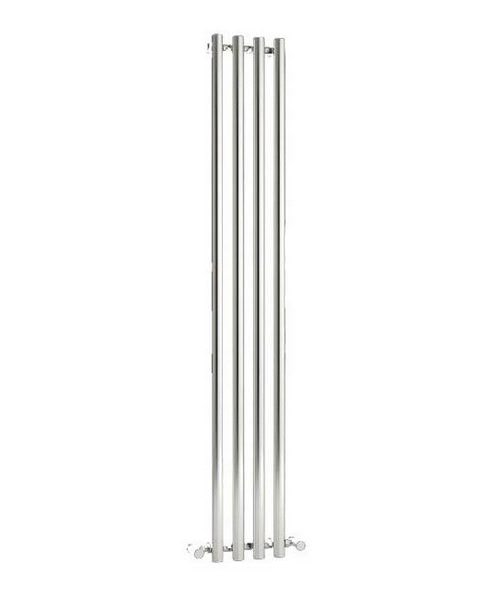 Reina Oria Chrome 270 x 1800mm Designer Vertical Radiator