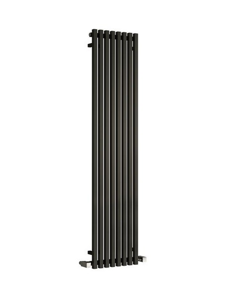 Reina Cascia Black 400 x 1800mm Designer Vertical Radiator