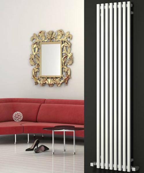Reina Cascia White 400 x 1800mm Designer Vertical Radiator