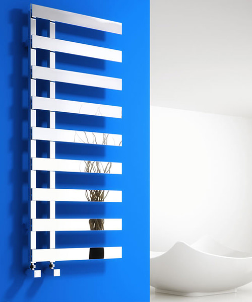 Reina Florina Chrome 500 x 800mm Designer Vertical Radiator