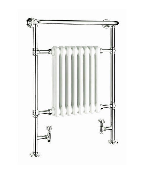 Reina Victoria White And Chrome Traditional Radiator 675 x 960mm
