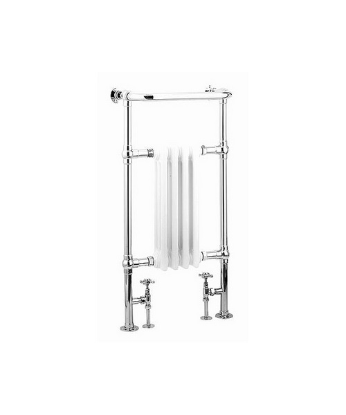 Reina Alicia White And Chrome Traditional Radiator 495 x 960mm