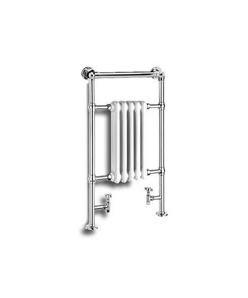 Reina Oxford White And Chrome Traditional Radiator 538 x 960mm