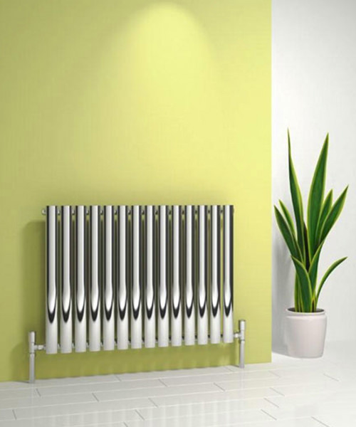 Reina Nerox Single 413 x 600mm Polished Stainless Steel Radiator