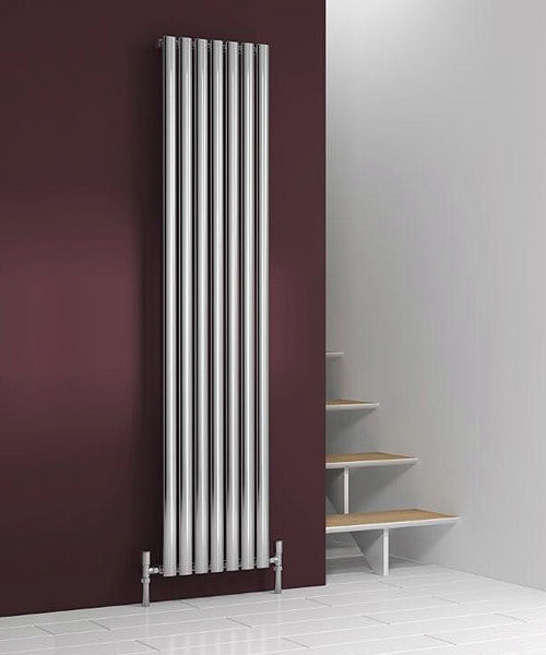 Reina Nerox Single 295 x 1800mm Polished Stainless Steel Radiator